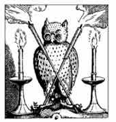 LECHUZA. Dibujo y adaptación de Ex libris personal sobre el original