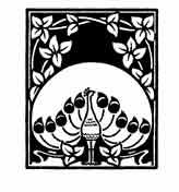 PAVO REAL En China el pavo real personifica la belleza y la dignidad y aleja a los poderes malignos. Dibujo y adaptaci�n de Ex libris personal sobre el original