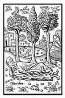 SUEÑOS .Desde la antiguedad, se les prestó gran atención, son la otra realidad del pensamiento simbólico. Xilografía del siglo XVI. Dibujo y adaptación de Ex libris personal sobre el original