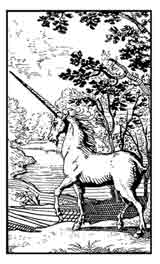 Unicornio Alquímico. Dibujo y adaptación de Ex libris personal sobre el original