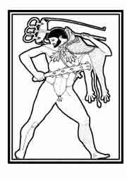 HÉRCULES. Detalle de ánfora del siglo V antes de Cristo. Josst Amman Xilografía 1562