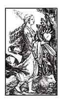 AFRODITA URANA (Venus Urana) que significa celeste, tiende a lo espiritual y dedica su atención al alma y la inteligencia. Dibujo y adaptación de Ex libris personal sobre el original