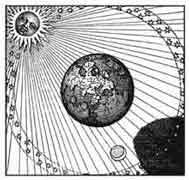 EL SOL Y SU SOMBRA COMPLETAN EL TRABAJO. M.Maier 1618. Dibujo y adaptación de Ex libris personal sobre el original