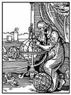 EL ASTRÓLOGO. De el libro de los oficios (Ständebuch).1558. Nuremberg. Dibujo y adaptación de Ex libris personal sobre el original