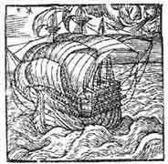 EMBLEMA.  Barco, Whitney Leyden 1586. Dibujo y adaptación de Ex libris personal sobre el original