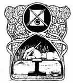 PINTURA. Anónimo finales del siglo XiX, principios del XX. Dibujo y adaptación de Ex libris personal sobre el original