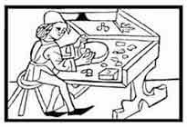 JOYERÍA Del libro acerca de la fuerza que reside en las piedras preciosas de Joh. Sporer, hacia 1495. Dibujo y adaptación de Ex libris personal sobre el original