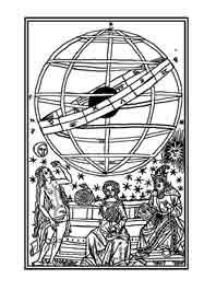 Esfera Armillar. Dibujo y adaptación de Ex libris personal sobre el original