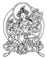 TARA VERDE Es considerada como la Buda de la actividad iluminada y superación de obstáculos, superar obstáculos durante la meditación o en la vida