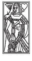 CARTAS FRANCESAS.Principios del siglo XVI. Dibujo y adaptación de Ex libris personal sobre el original