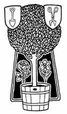 JARDINERÍA. Dibujo y adaptación de Ex libris personal sobre el original