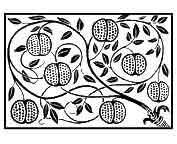 GRANADA.Sus numerosas semillas representan la fertilidad, simbolo de las diosas Astarté, Demeter, Perséfone, Afrodita y Atenea. A su vez en la época romana es simbolo de amor y matrimonio