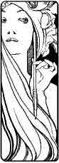 Mujer con pluma Anónimo. Dibujo y adaptación de Ex libris personal sobre el original