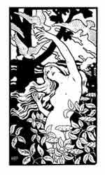 Finales del siglo XiX, principios del XX. Paul Berithon. Dibujo y adaptación de Ex libris personal sobre el original