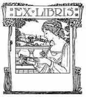 Anónimo finales del siglo XiX, principios del XX. Dibujo y adaptación de Ex libris personal sobre el original